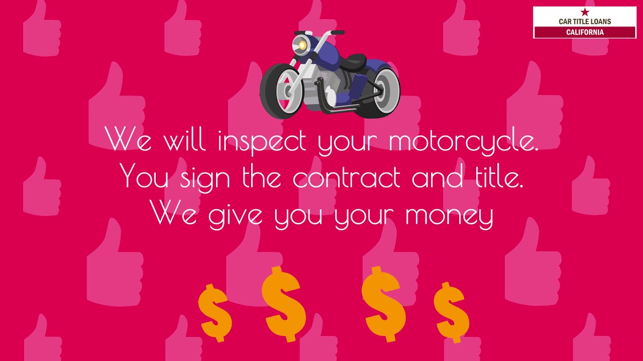 Motorcycle Title Loans California | Get Fast Cash Using