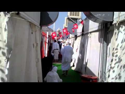 A walk through Mina tent City during Hajj HD