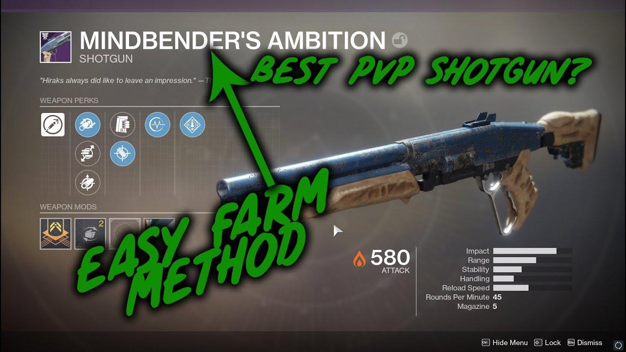 Destiny 2: How to Farm the Mindbender's Ambition Shotgun