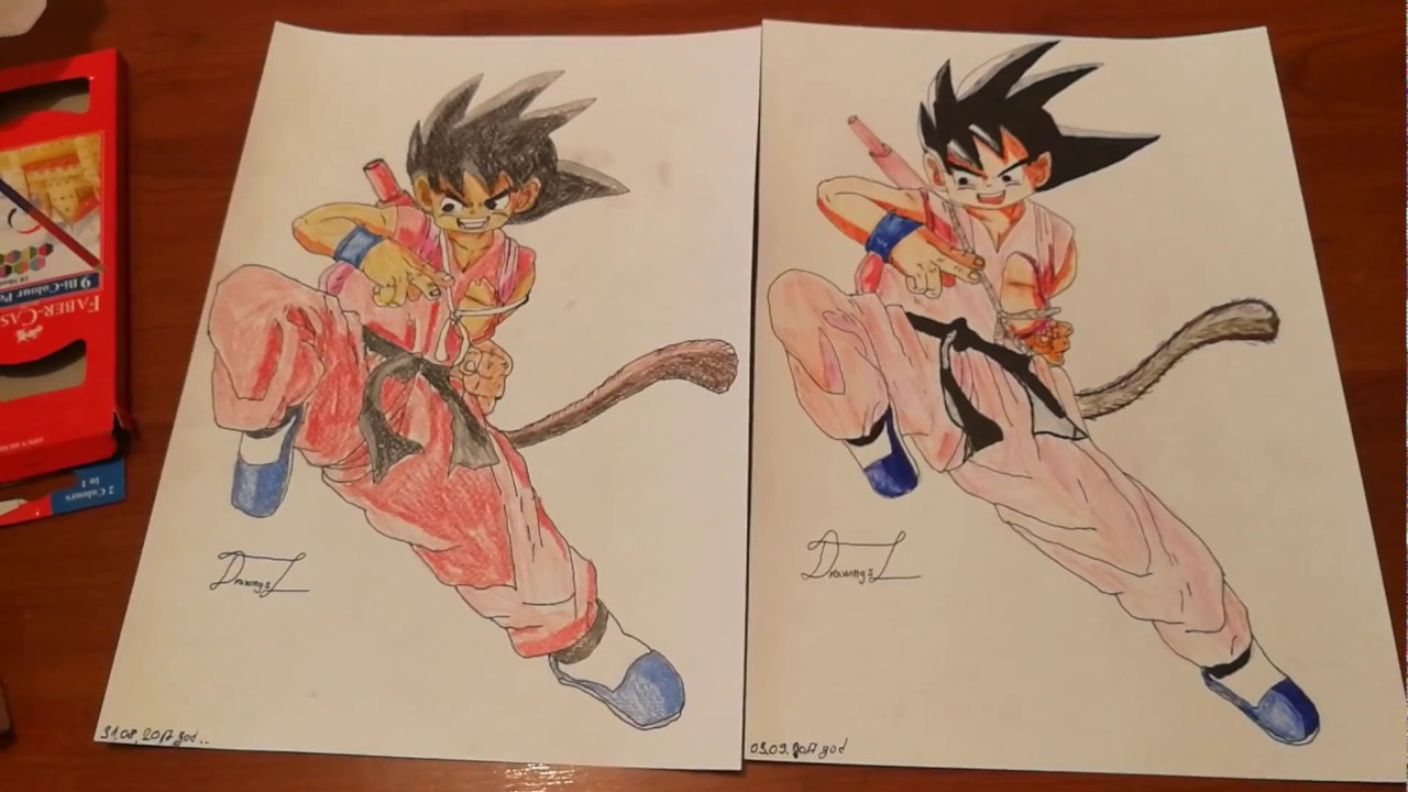 Kid Goku Coloring Faber Castell Color Pencils