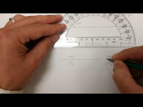 How to bisect an angle with a protractor, bisect a segment with a ruler and use a compass