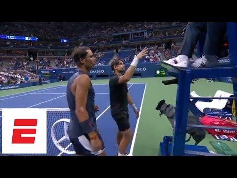 2018 US Open highlights: Rafael Nadal advances after David Ferrer retires in first round | ESPN