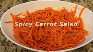 Quick Spicy Carrot Salad (with Coconut Oil) Recipe