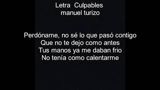 Culpables letra - Manuel turizo video thumbnail
