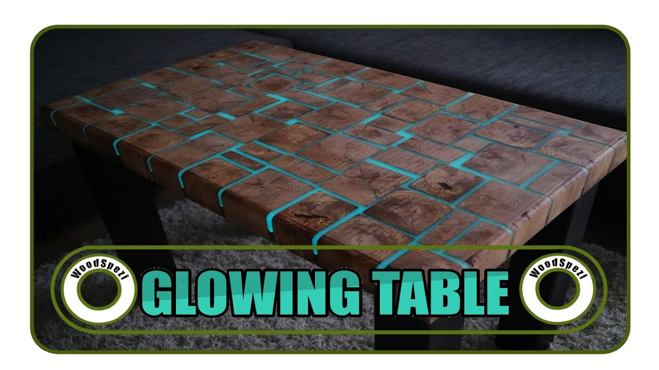 Esstische Rot Glowing Table Leuchtender Tisch Diy