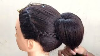 Diy - Hairstyle For Wedding Party || Wedding Party Hairstyle For Medium Hair