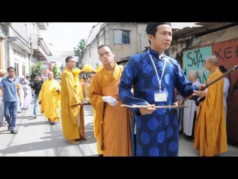 Lễ nhập tháp - Diễu hành xe hoa tang lễ HT  Diệu Tâm -  www.phathocdoisong.com