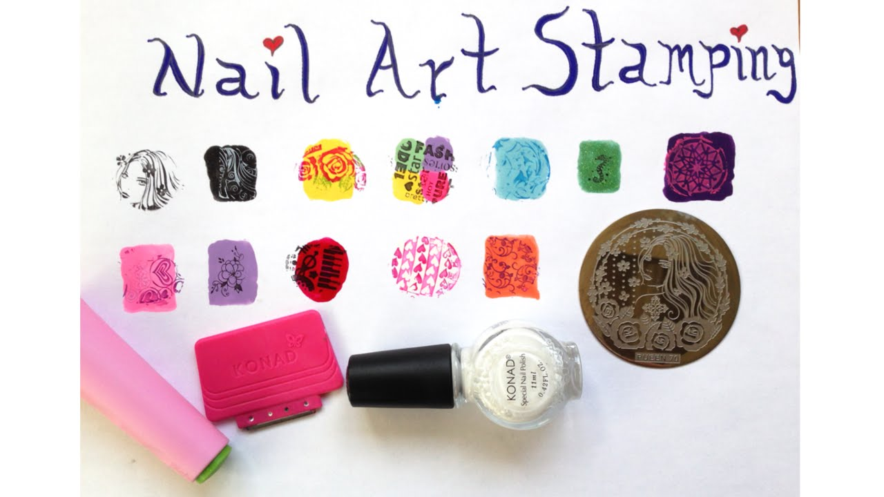 All about nail art stamping featuring konad and pueen plates all about nail art stamping featuring konad and pueen plates prinsesfo Gallery