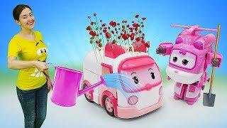 Веселая Школа — Видео для детей— Игрушки Робокар Поли иСупер Крылья наферме— Для самых маленьких