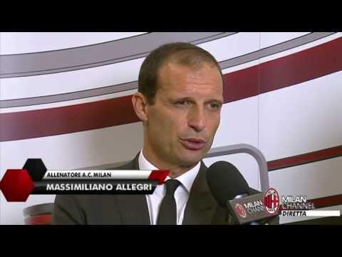 AC Milan I Allegri: 'Un risultato importante' (with subtitles)