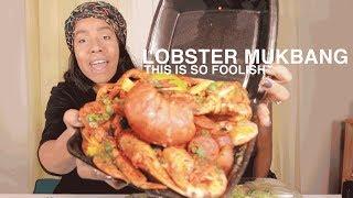 Lobster Black Seafood Box Mukbang ASMR This is Ridiculous