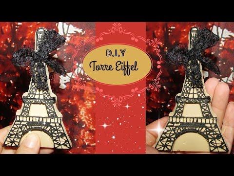 D. I .Y. Torre Eiffel Para Decorar o Para Colgar