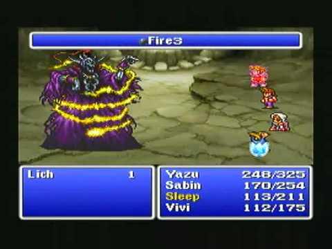 PSone) Final Fantasy 1 - Lich - YouTube