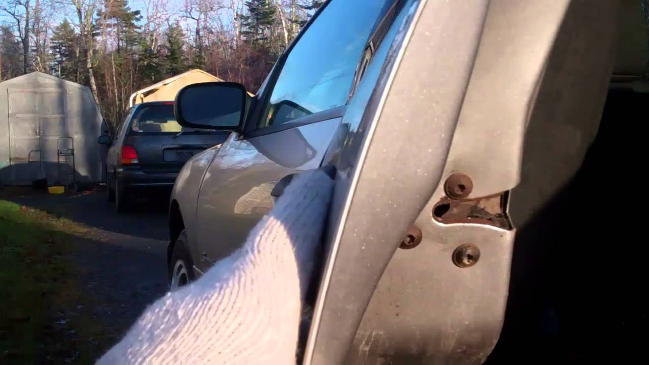 Repairing a stuck latch on a car door - YouTube