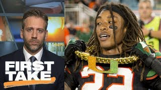 Max Kellerman: Miami got 'dissed' in latest College Football Playoff Rankings | First Take | ESPN