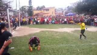 Tiros penales Final de Fútbol en Mesa de Guadalupe 2015