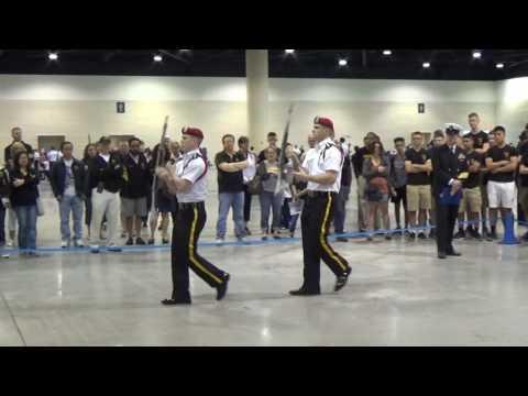 2017 NHS Drill Competition Marmion Academy Duet Warda/DeMoss