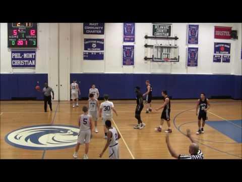 2017-01-13 Faith Christian Academy Boys Varsity Basketball at Phil Mont Christian Academy