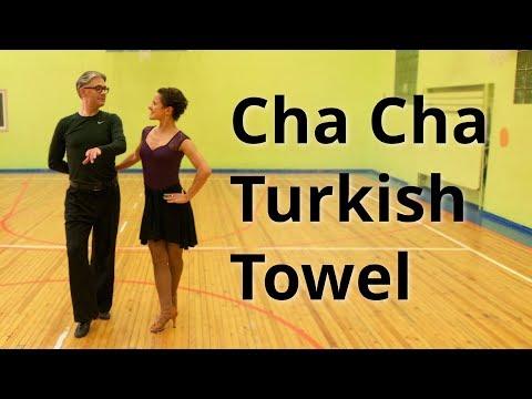 Cha Cha Intermediate Routine With Turkish Towel | Latin Dance