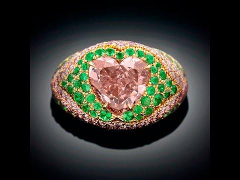 Intense Orange - Pink Diamond Ring 4.05 Carats from M.S. Rau Antiques