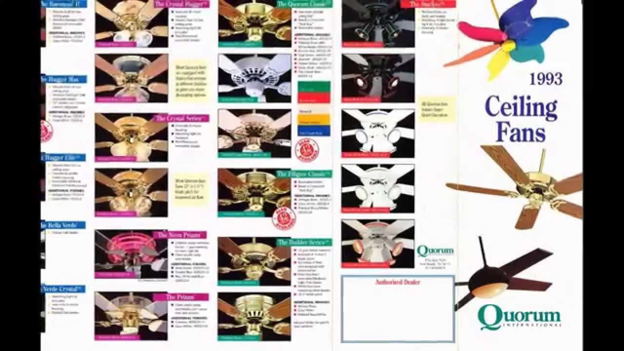 Quorum Ceiling Fan Catalog From 1993 Design Inspirations