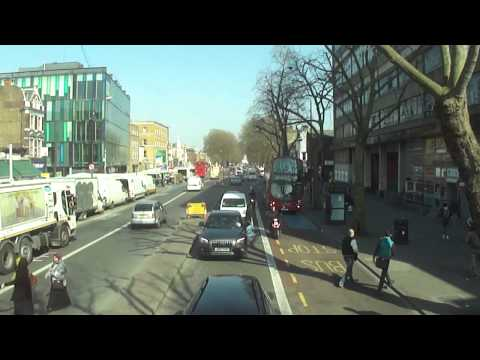 Number 25 bus ride from Hainault Street, Ilford to Oxford Circus, London - (the complete journey).