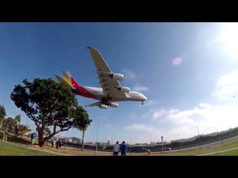 Heavy Airliners Landing Los Angeles LAX A380-B747-B777 - Pilot VLOG 22