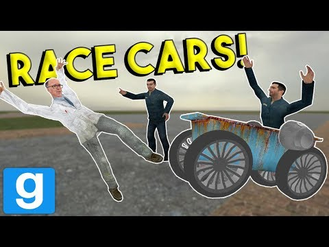 BUILDING AND RACING CARS! -  Garrys Mod Gameplay - Gmod Multiplayer Sandbox Challenge