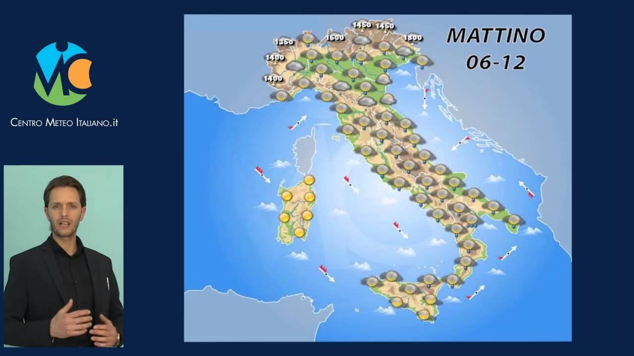 Previsioni meteo Italia, domani 8 Aprile 2016 - YouTube