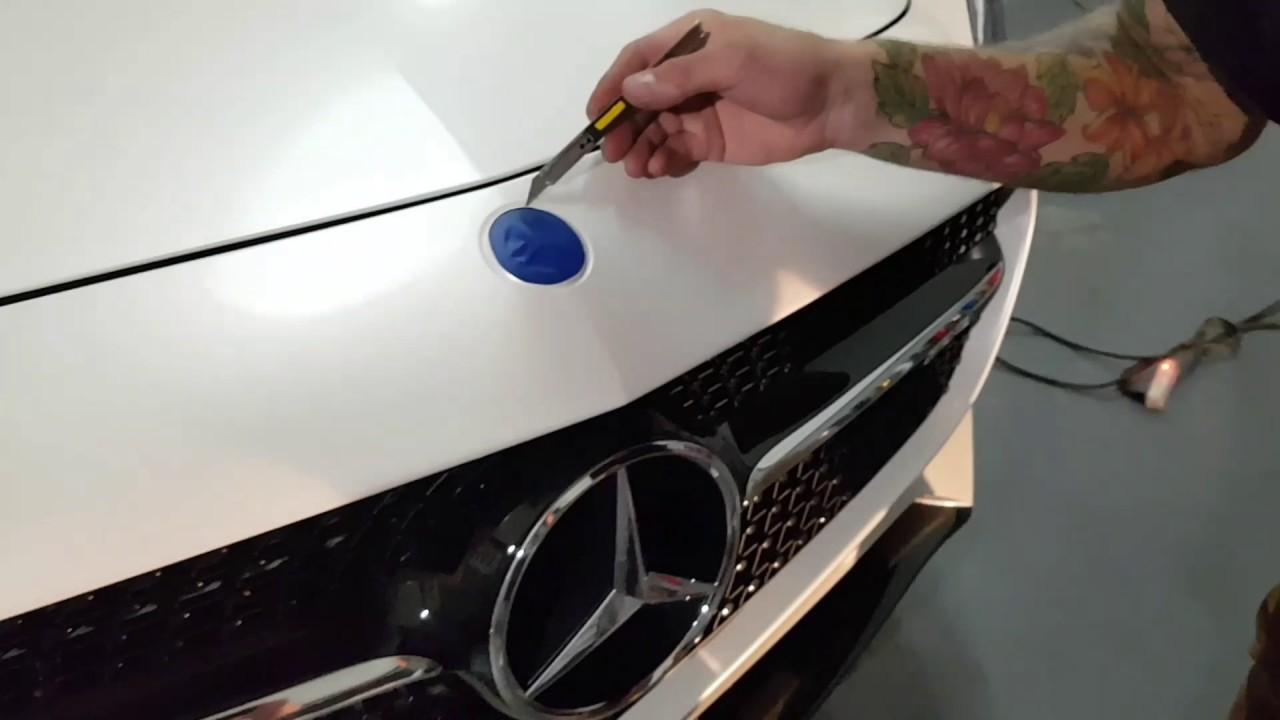 Vinyl Wrap Around Emblem Mercedes Gts By Ckwraps Www
