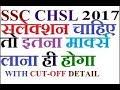 SSC CHSL 10+2 Expected final cutoff 2017- isse jyada cutoff nhi jasakta