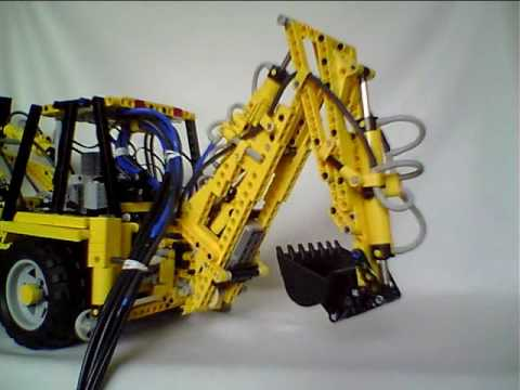Lego R Remote Controlled Backhoe Loader Youtube