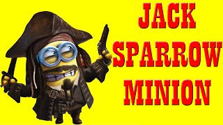 Clay And Toy For Kid - How To Make Jack Sparrow Minion - Claytohe