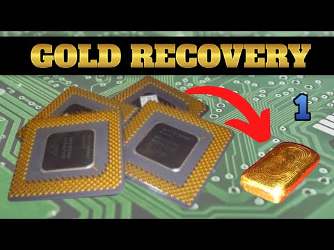 How to Refine Gold from Computer RAM /& CPUs-Melt /& Cast Ignots of Gold Recovey