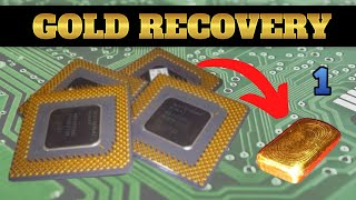 Repeat youtube video How to recover Gold from Scrap Ceramic CPU - Part 1