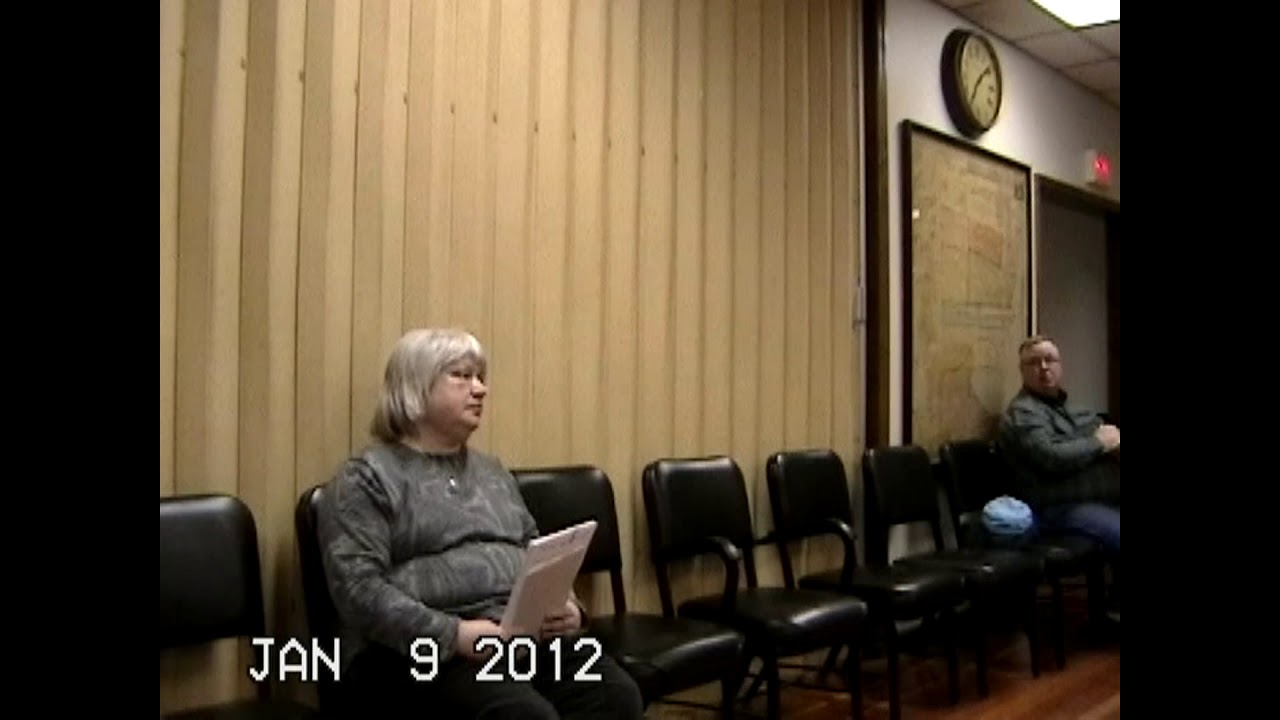 Chazy Town Board Meeting  1-9-12