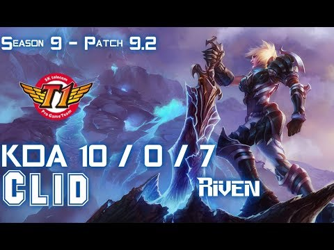 SKT Clid RIVEN vs XIN ZHAO Jungle - Patch 9.2 KR Ranked