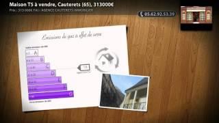 Maison T5 à vendre, Cauterets (65), 313000€