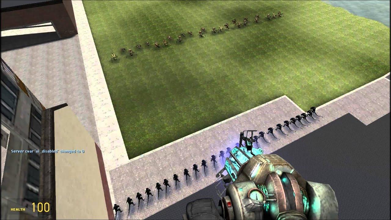 Gmod War Xenomorphs vs Antlions - YouTube
