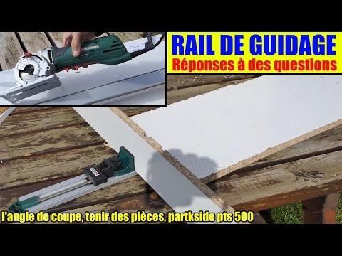 guide de coupe droite lidl parkside scie à main pts 500 coller des objets l'angle de coupe.