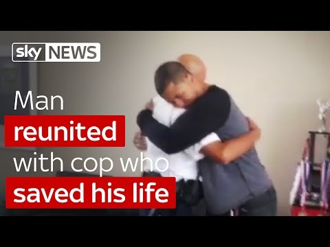 Man Reunited With Cop Who Saved His Life