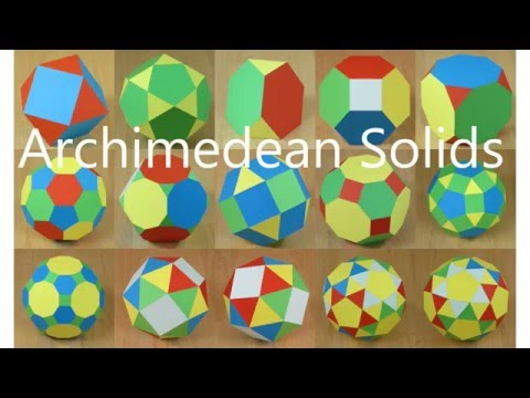 Paper Archimedean Solids