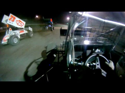 Chris Donnelly #17 In-Car   Sprint Cars of New England at Bear Ridge Speedway 8-16-2014