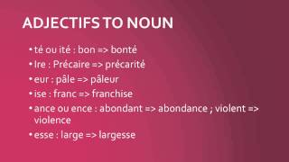 DELF B1 - B2 : La nominalisation in French / French lessons Online / Französisch