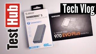 Orico Tunderbolt 3 NVME SSD + Samsung 970 EVO Plus vs Samsung X5 Thunderbolt 3 Portable SSD
