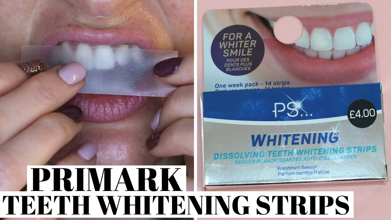 Primark Dissolving Teeth Whitening Strips First Impression Demo