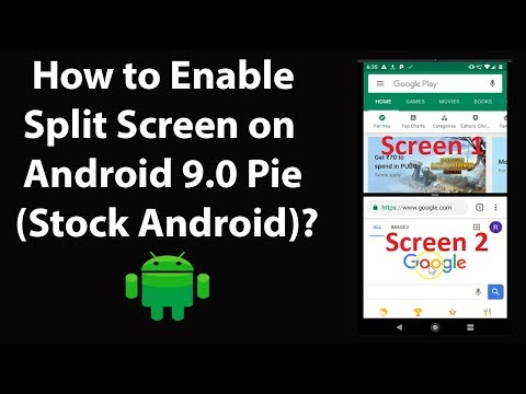 How To Enable Split Screen On Android 9.0 Pie Stock Android?