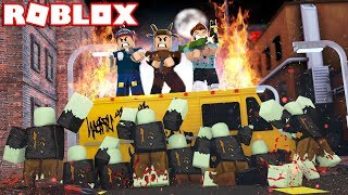 YOUTUBERS VS ZOMBIE APOCALYPSE EN ROBLOX! (Roblox BLOOD MOON TYCOON)