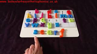 Letters and Sounds Phase 4: Magnetic Letter Spelling