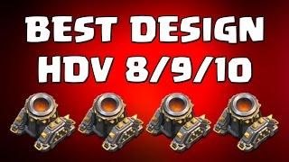 Comment intégrer le 4ème mortier à son village ? Les meilleures bases HDV 8/9/10 | Clash of Clans